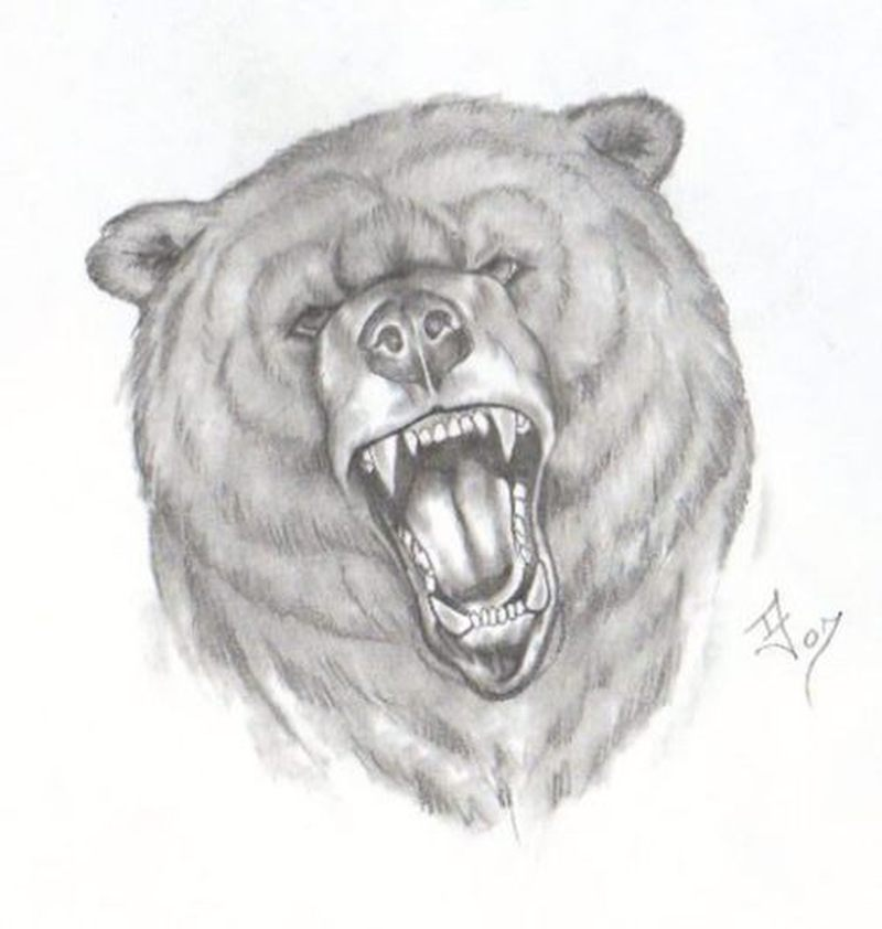 very angry bear face tattoo design tattoos book tattoos designs. Black Bedroom Furniture Sets. Home Design Ideas