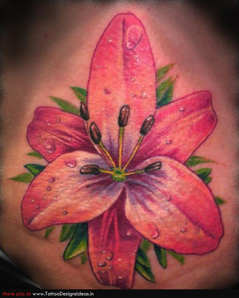 Very lovely flower tattoo design