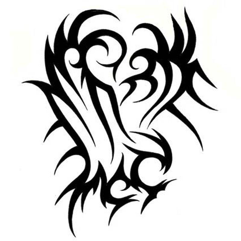 Very nice tribal eagle tattoo design