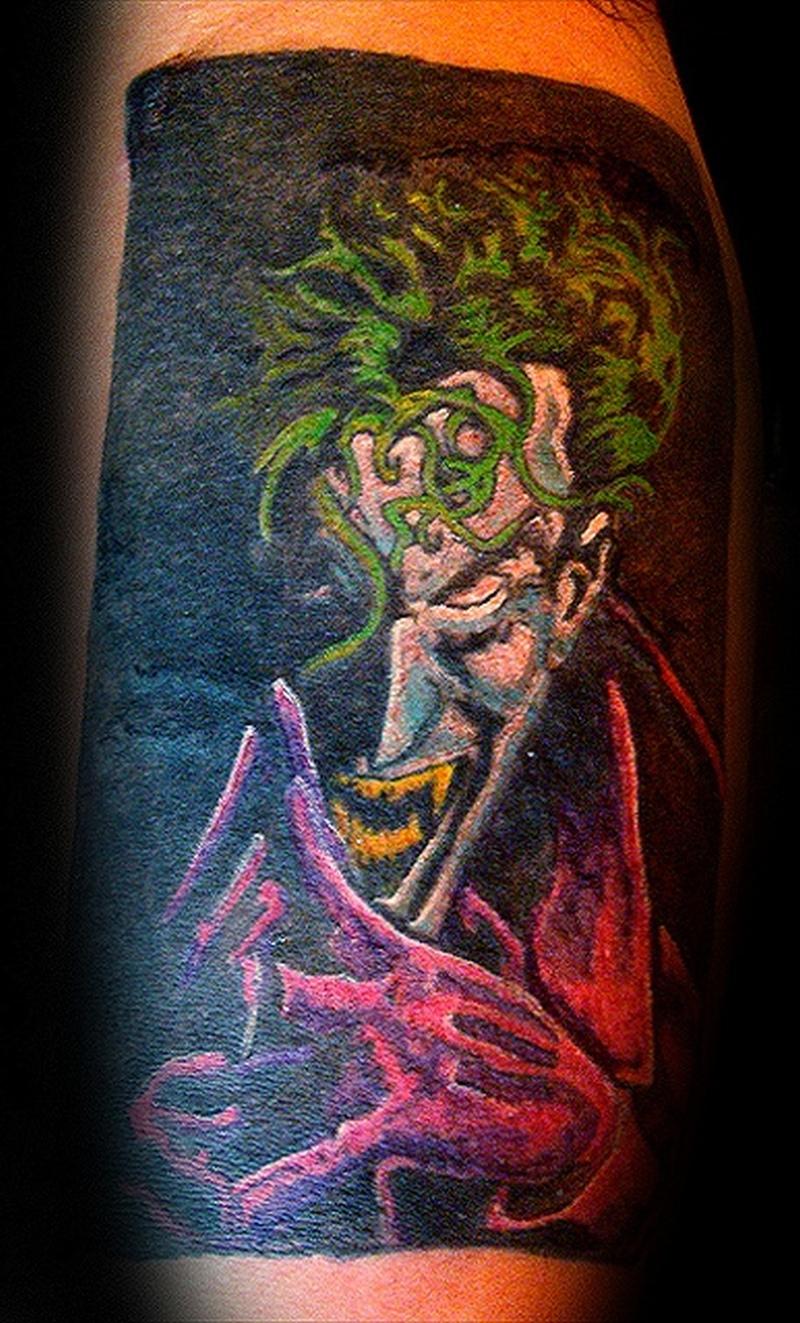 Very scary joker tattoo design