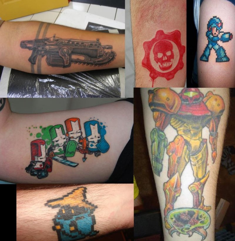 Video game geek tattoo designs