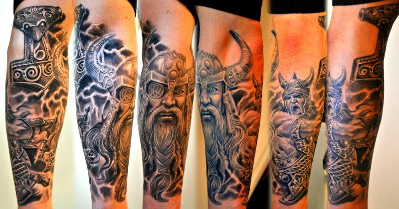 Skull Horror Viking Military Arm Sleeve Tattoo Design Tattoos Book