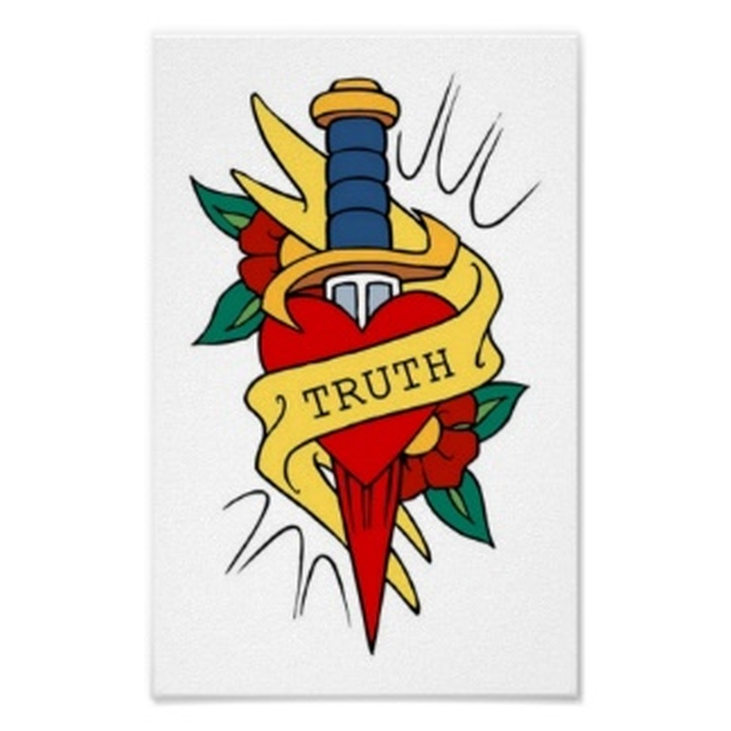 Vintage truth dagger tattoo posters