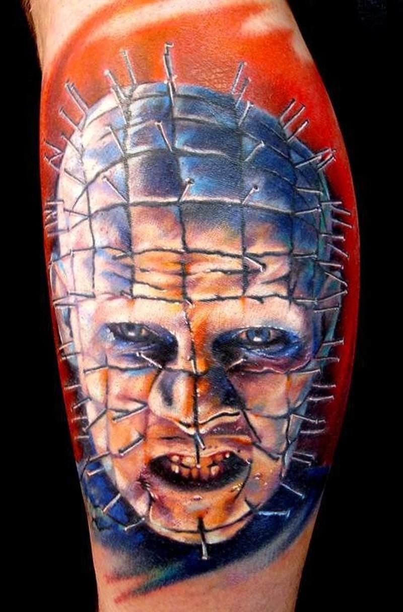 Vivid colors from hellraiser movie horror tattoo