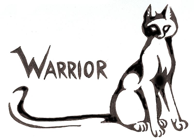 Warrior cat tattoo design