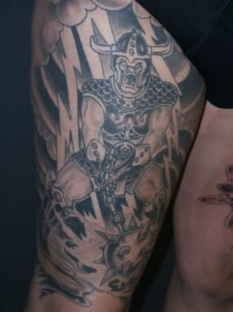 Warrior fantasy tattoo