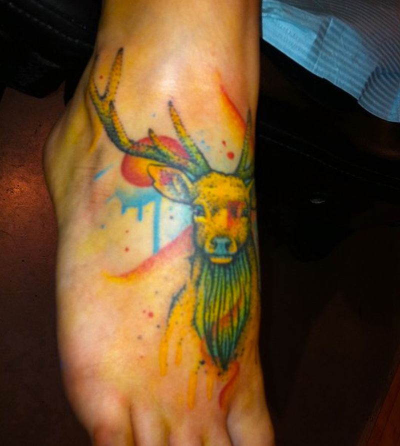 e6a7e80d41e8e Watercolor deer foot tattoo design - Tattoos Book - 65.000 Tattoos ...