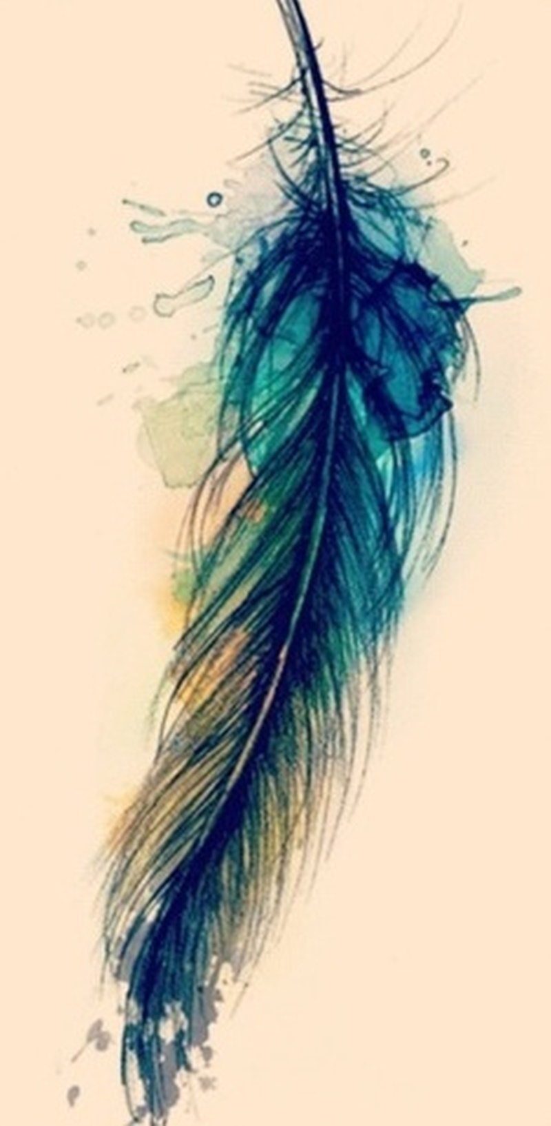 watercolor feather tattoo sample tattoos book tattoos designs. Black Bedroom Furniture Sets. Home Design Ideas