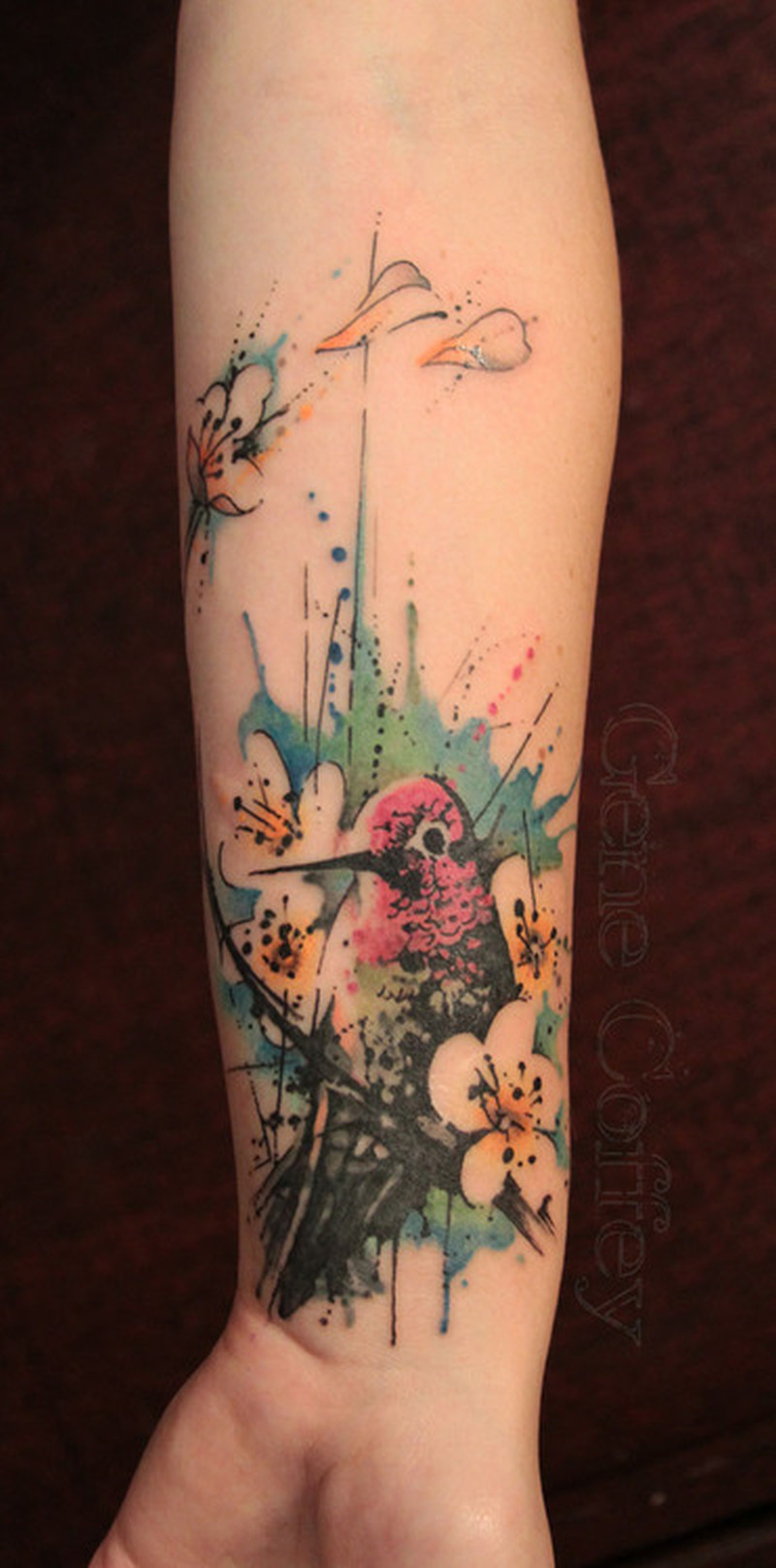 Watercolor hummingbird tattoo on wrist - Tattoos Book - 65.000 ...