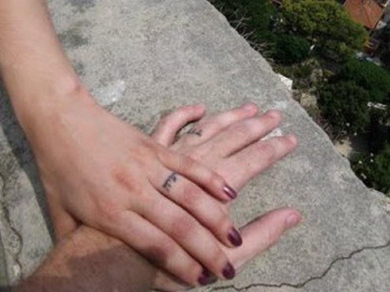Wedding bands hebrew tattoo designs