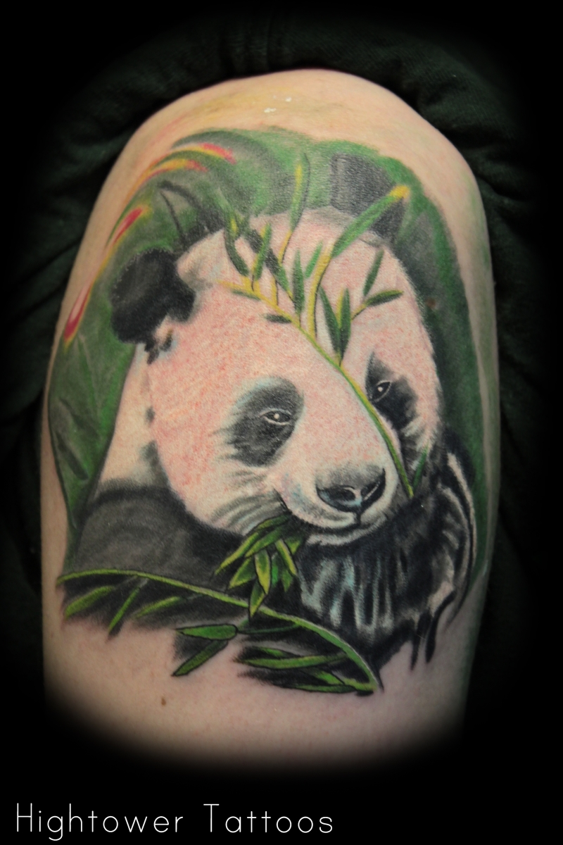 White panda bear tattoo design