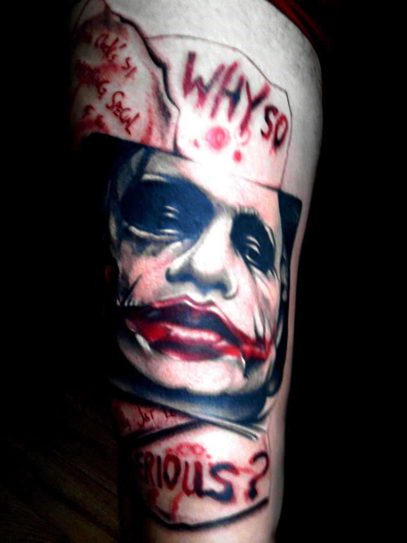 why so serious batman joker tattoo design tattoos book tattoos designs. Black Bedroom Furniture Sets. Home Design Ideas