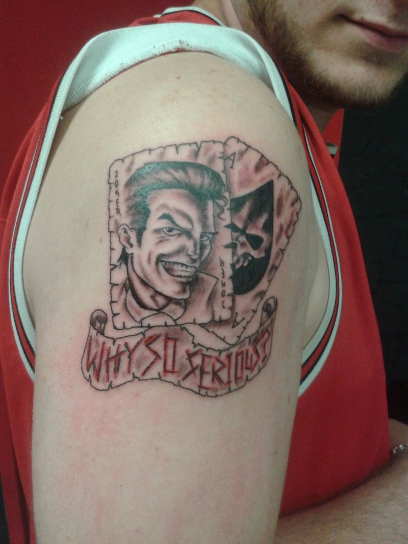 why so serious joker cards tattoo on arm tattoos book tattoos designs. Black Bedroom Furniture Sets. Home Design Ideas