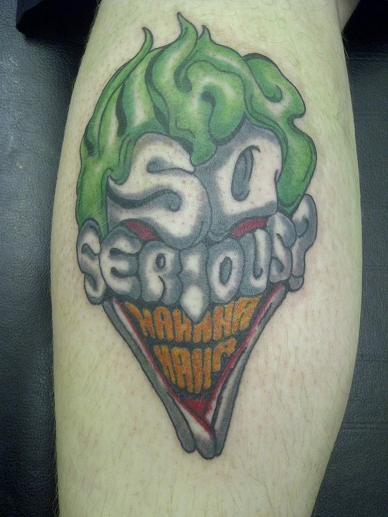 why so serious joker head tattoo design 2 tattoos book. Black Bedroom Furniture Sets. Home Design Ideas