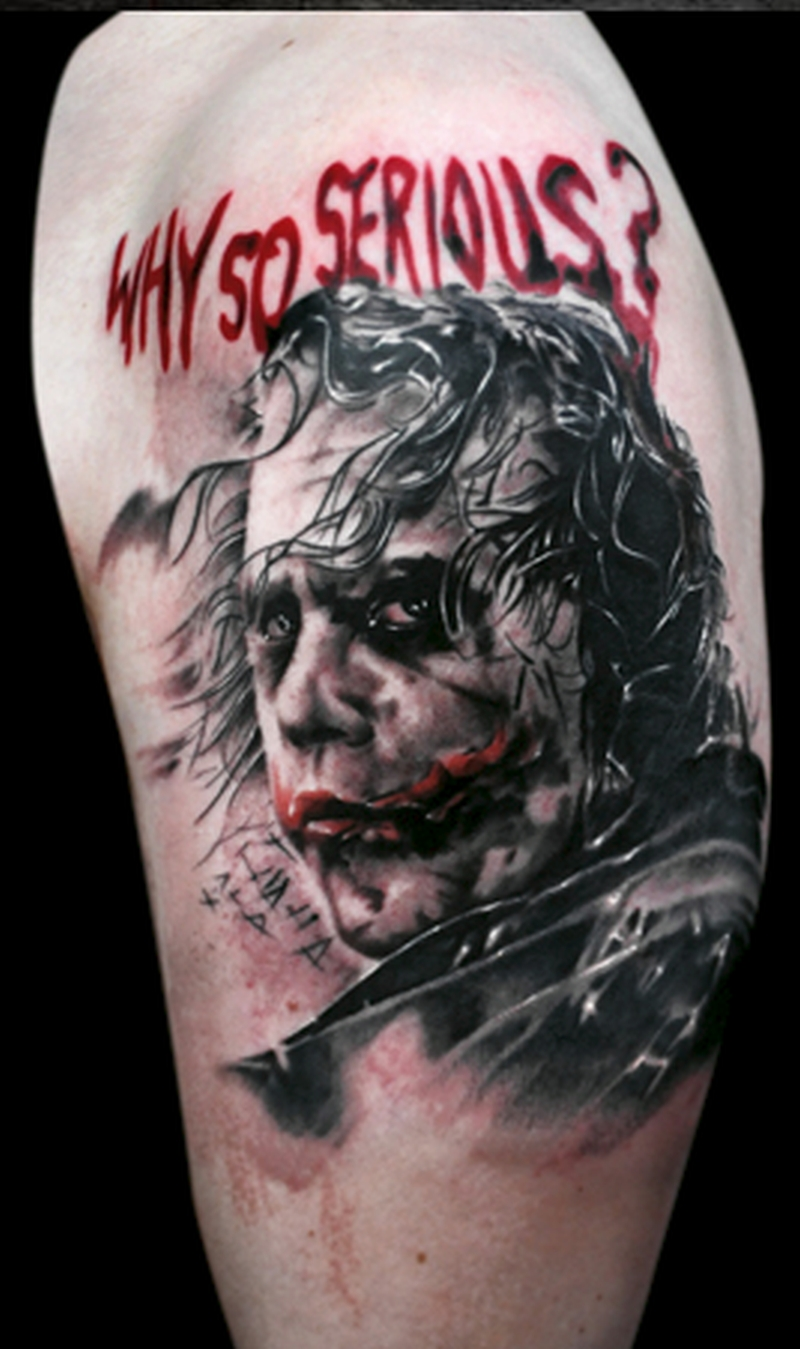 Why so serious joker tattoo image