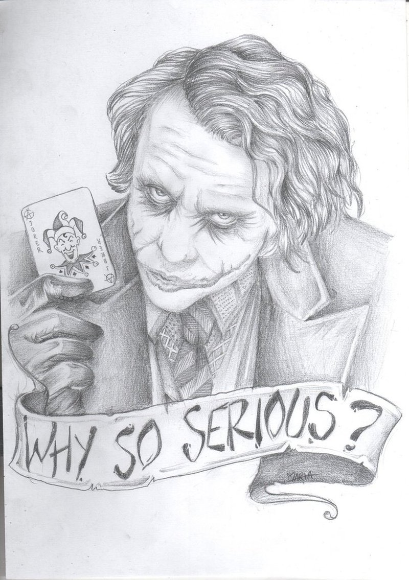 Why so serious joker tattoo sketch
