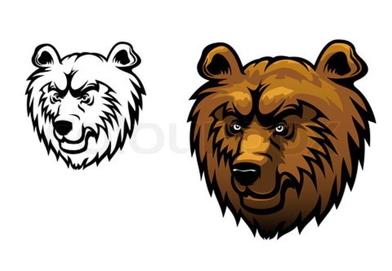Тату медведь клипарт в векторе