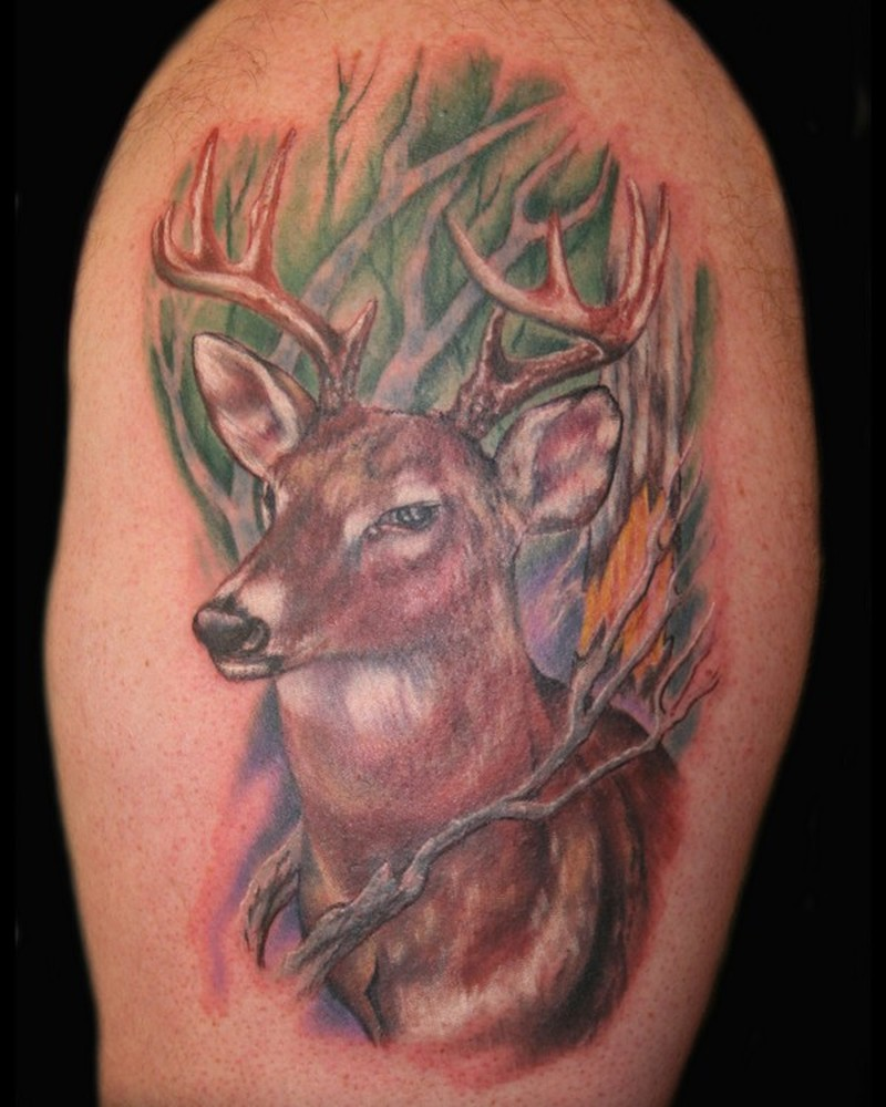 Wild deer tattoo picture