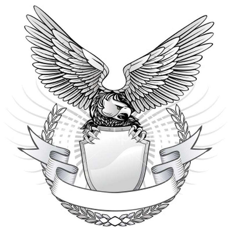 Wild eagle tattoo design