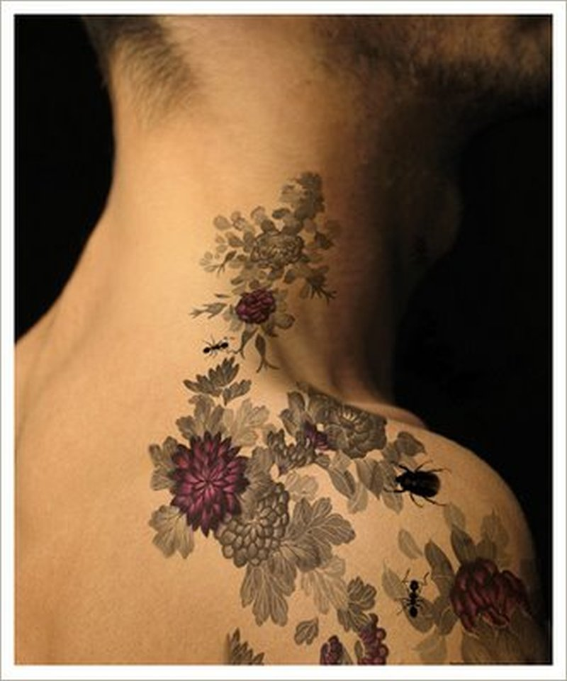 Wild floral tattoo image