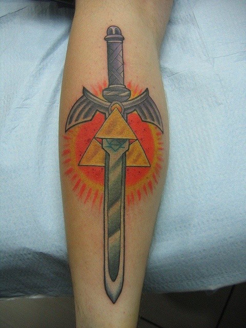 Winged Dagger With Masonic Symbols Tattoo Tattoos Book