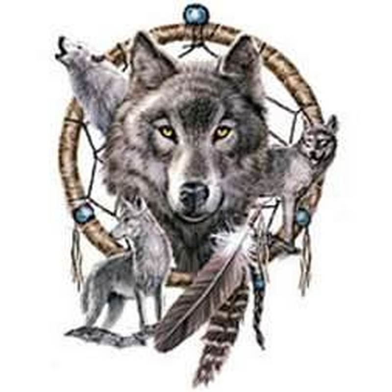 e90aa7667 Wolf dream catcher tattoo sample - Tattoos Book - 65.000 Tattoos Designs
