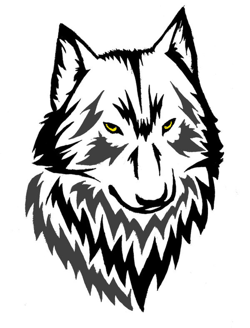 Calendar Head Design : Wolf head tattoo design tattoos book