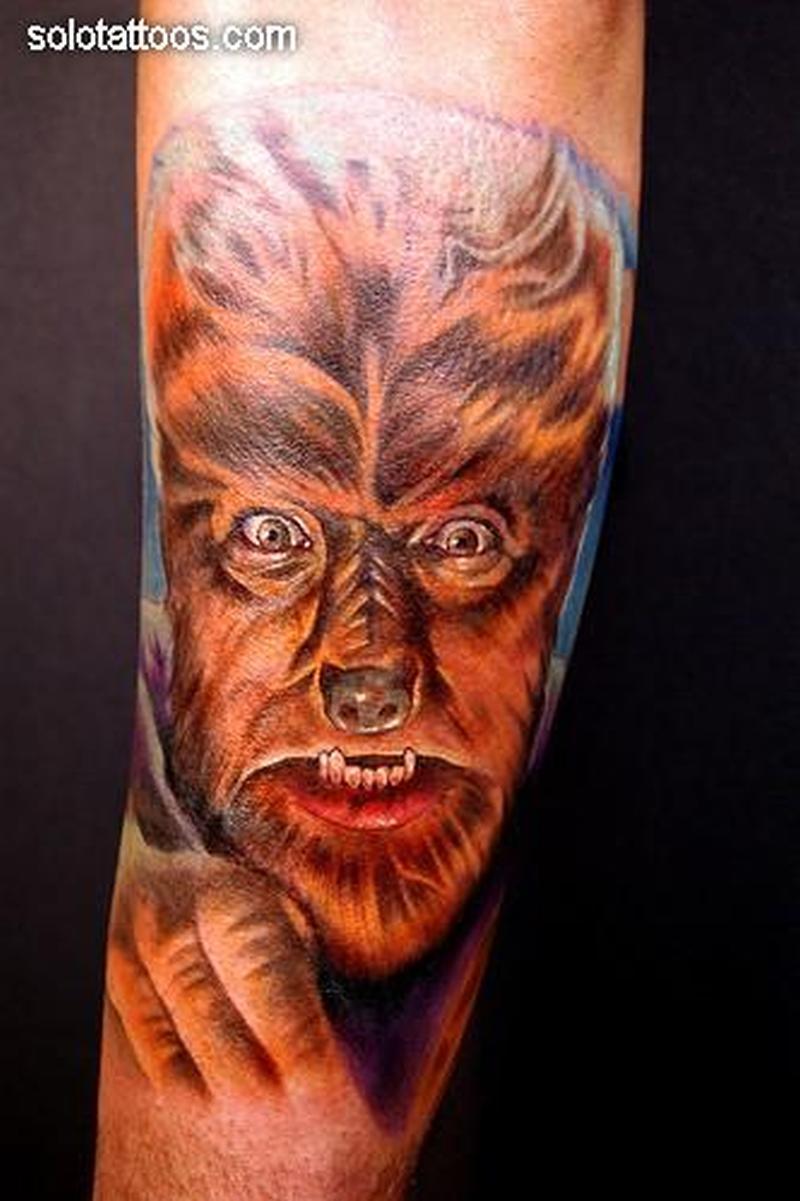 Wolfman horror tattoo design 2