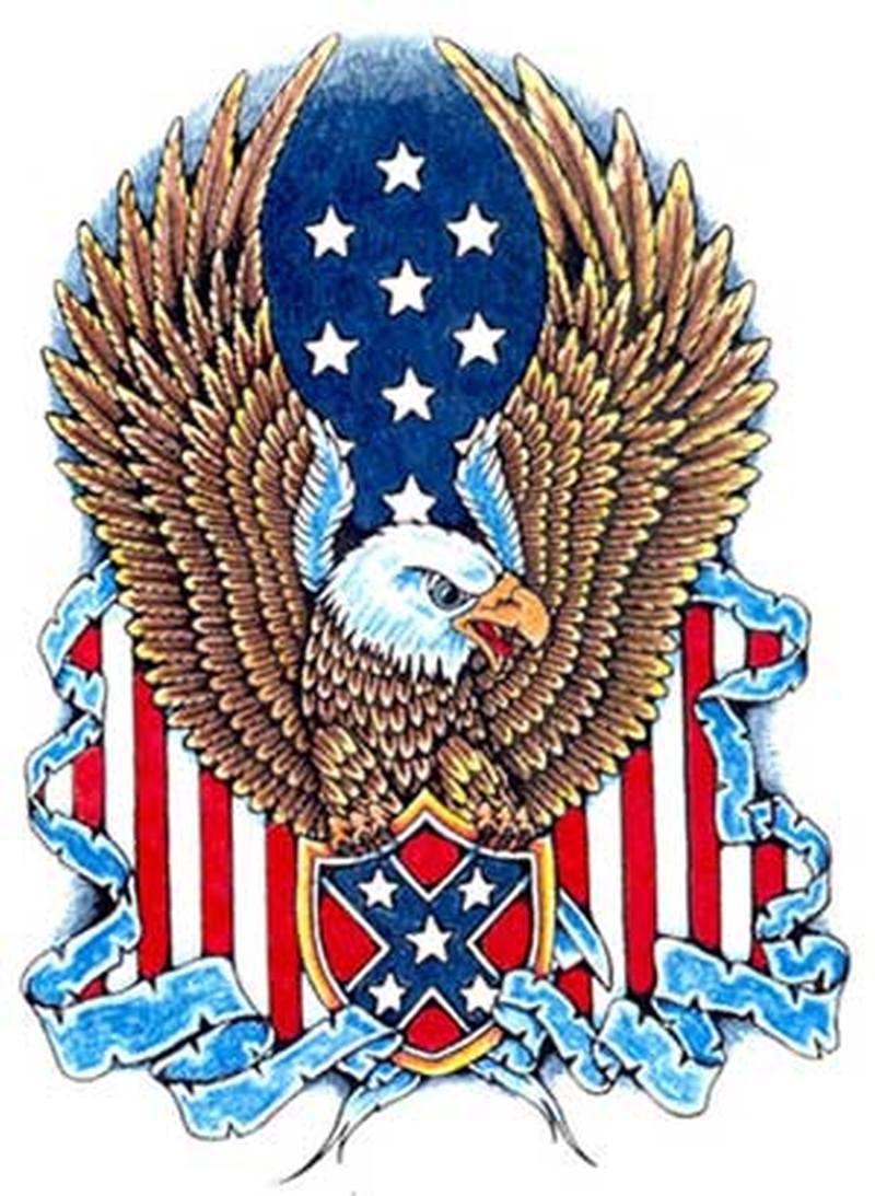 Wonderful american eagle tattoo