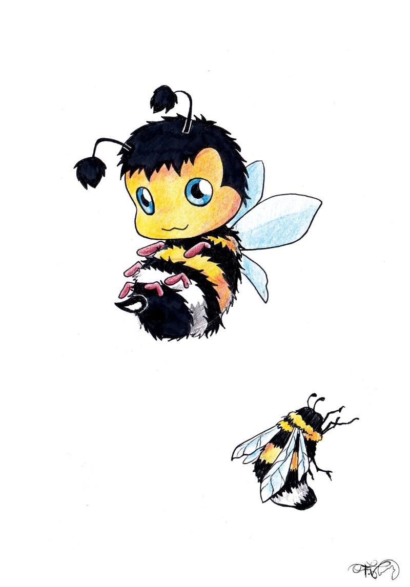 Wonderful bumblebee tattoo designs