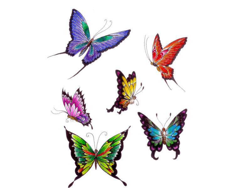 Wonderful butterflies tattoo design