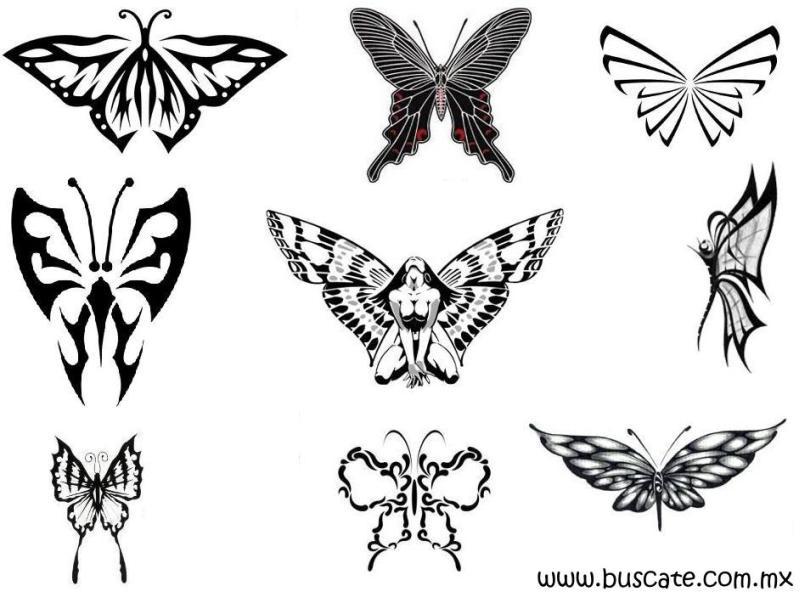 Wonderful butterflies tattoo designs