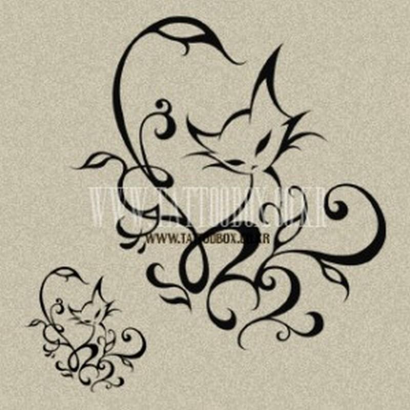 Wonderful cat tattoo image