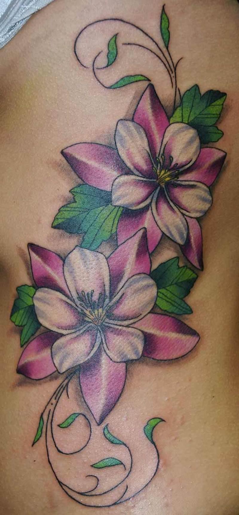 Wonderful floral tattoo art 2