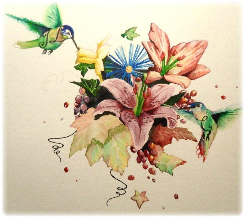 Wonderful floral tattoo art