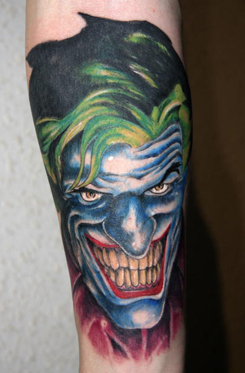 Wonderful joker face tattoo design tattoos book for The joker tattoo