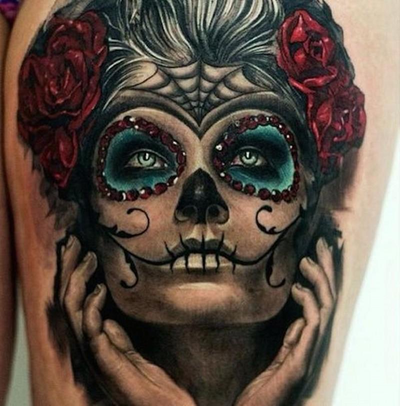 Wonderful santa muerte girl tattoo - Tattoos Book - 65.000 Tattoos ...