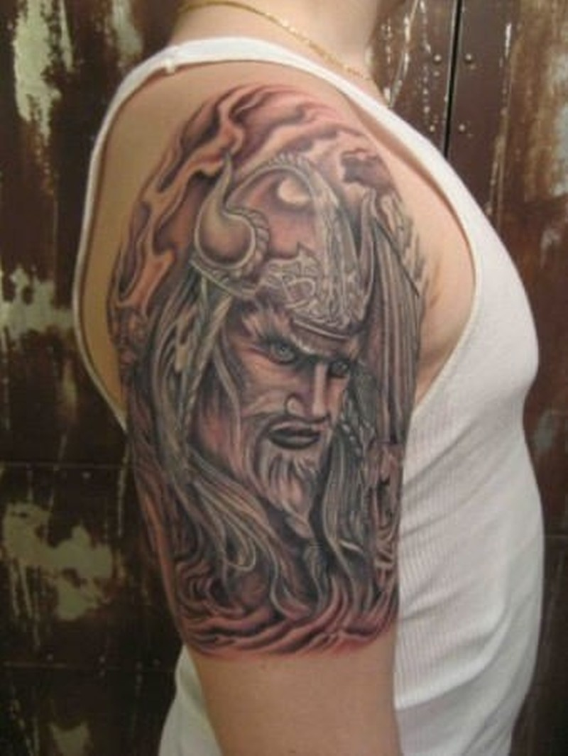 Wonderful Viking Tattoo On Half Sleeve Tattoos Book 65 000