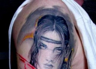 6bc922dae Wonderful young woman warrior with bloody sword tattoo · Women tattoos