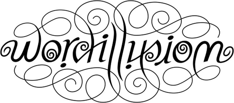 Word illusion tattoo design