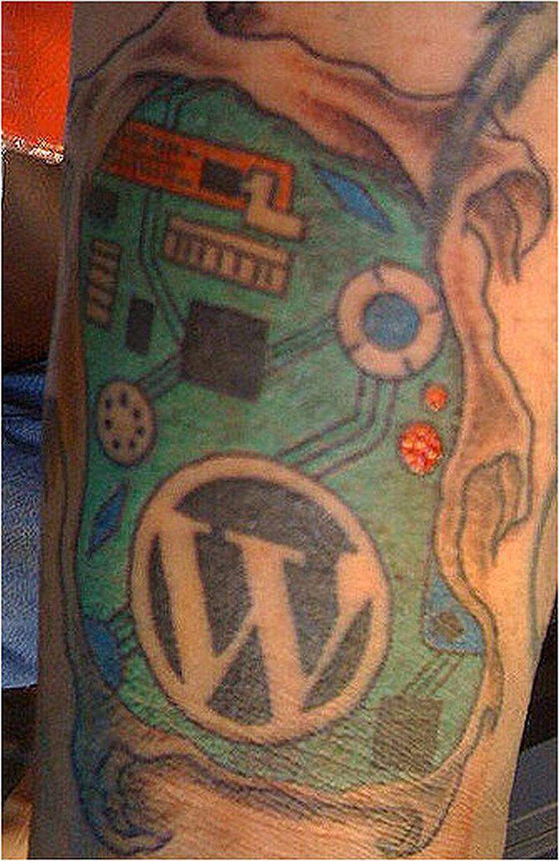 Wordpress chip plate tattoo design