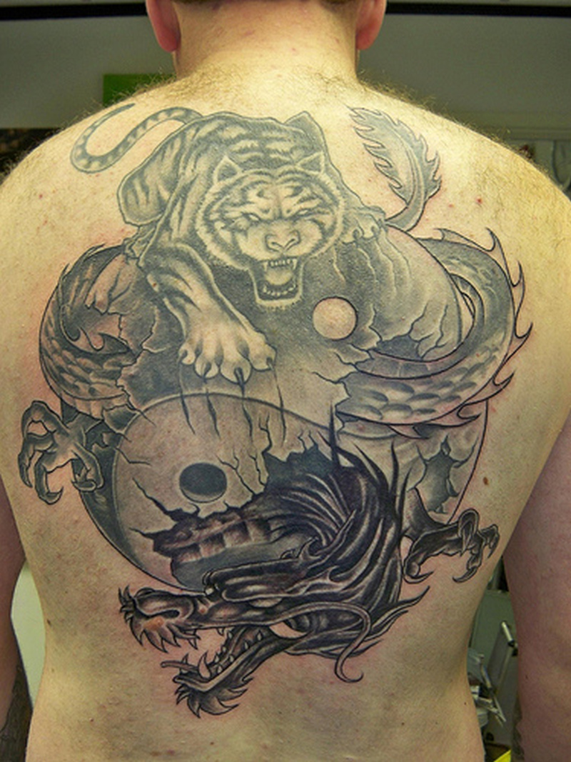 Yin Yang As Fighting Tiger And The Dragon1 Tattoo Tattoos Book