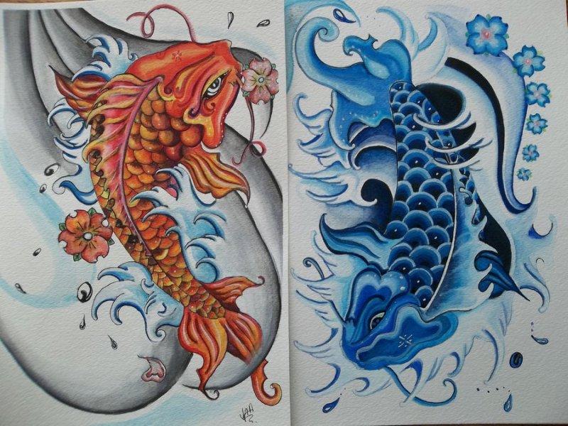 ying yang koi fish tattoo design 2 tattoos book tattoos designs. Black Bedroom Furniture Sets. Home Design Ideas