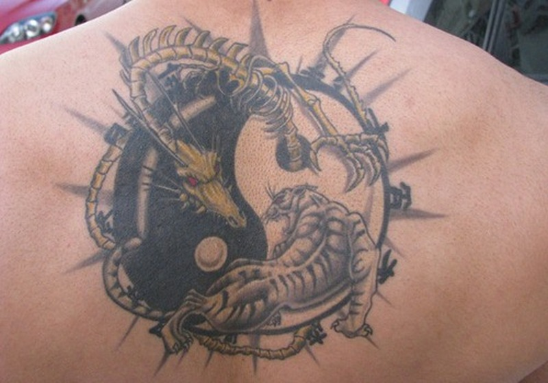 Ying Yang Tiger Dragon Tattoo Tattoos Book 65 000 Tattoos Designs