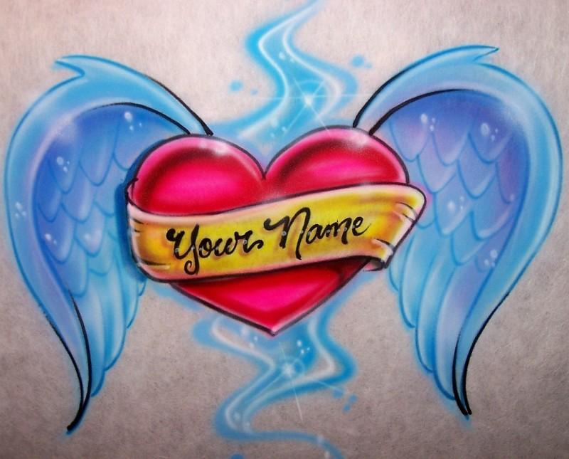 Name Heart Tattoos Designs