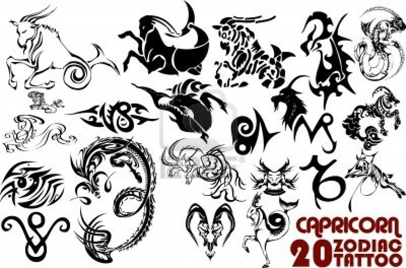Zodiac Capricorn Tattoo Designs Tattoos Book 65000
