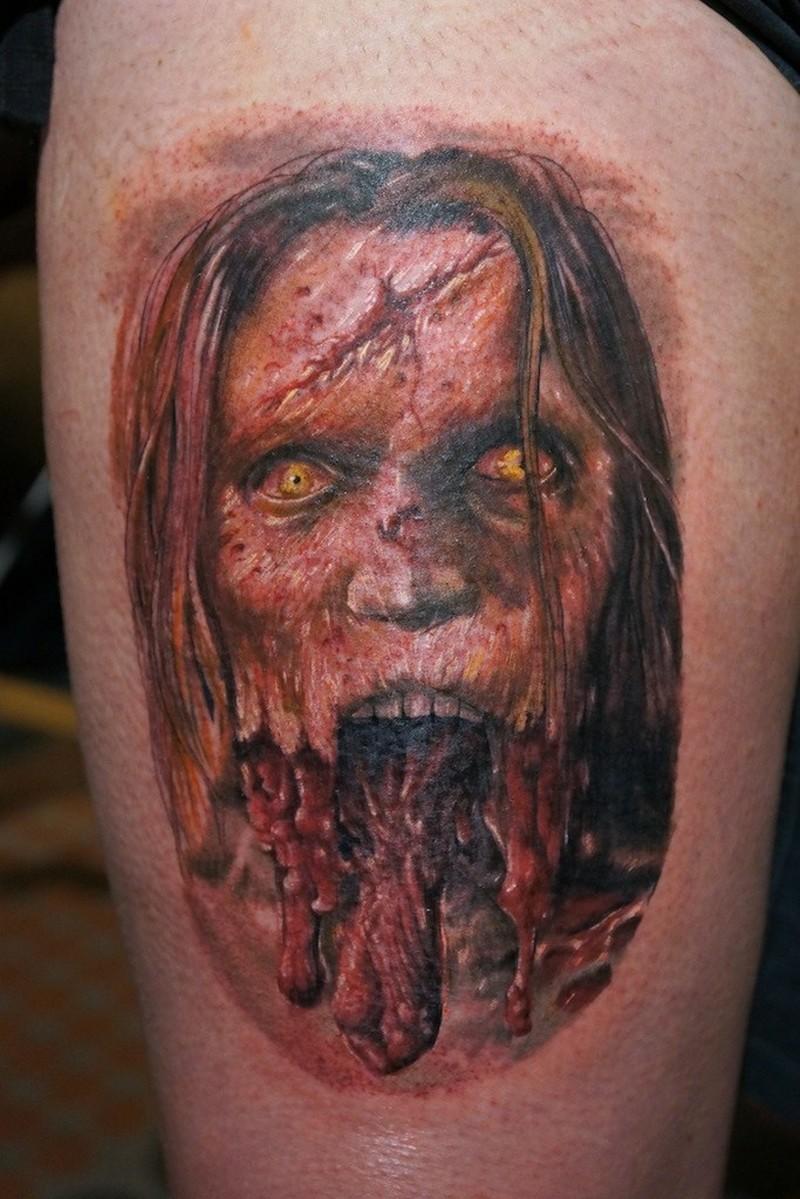 Zombie by graynd tattoo