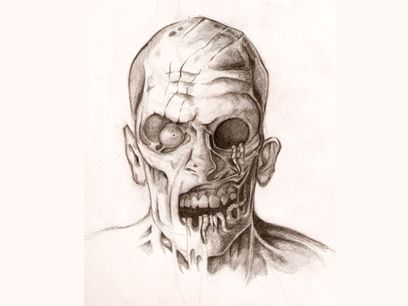 33cee4dab Zombie face tattoo design - Tattoos Book - 65.000 Tattoos Designs