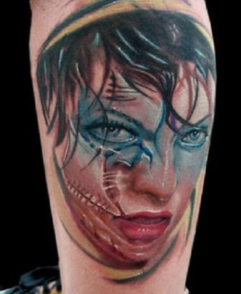 7b92a9d78 Zombie girl face tattoo design - Tattoos Book - 65.000 Tattoos Designs