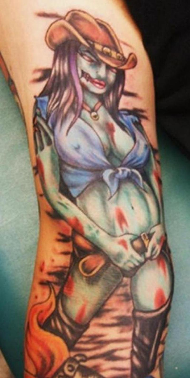 Zombie girl tattoo image 2